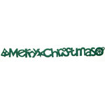 Queen and Company - Self Adhesive Felt Fusion Border - Merry Christmas - Green