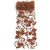 Queen and Company - Self Adhesive Felt Fusion Ribbon - 4.7 Inches - Vines - Chocolate