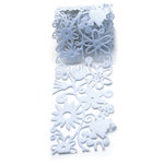 Queen and Company - Self Adhesive Felt Fusion Ribbon - 2.7 Inches - Floral - White