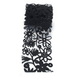 Queen and Company - Self Adhesive Felt Fusion Ribbon - 2.7 Inches - Floral - Black