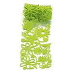 Queen and Company - Self Adhesive Felt Fusion Ribbon - 2.7 Inches - Floral - Green