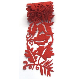 Queen and Company - Self Adhesive Felt Fusion Ribbon - 2.7 Inches - Fall Leaves - Orange, CLEARANCE