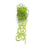 Queen and Company - Self Adhesive Felt Fusion Ribbon - 1.6 Inches - Scrolls - Green
