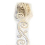 Queen and Company - Self Adhesive Felt Fusion Ribbon - 1.6 Inches - Scrolls - Cream