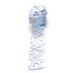 Queen and Company - Self Adhesive Felt Fusion Ribbon - 1.6 Inches - Hearts - White, CLEARANCE