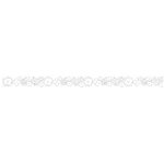 Queen and Company - Self Adhesive Felt Fusion Border - Flower - White