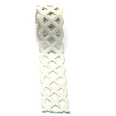 Queen and Company - Self Adhesive Felt Fusion Ribbon - 1.6 Inches - Celtic - Cream