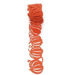 Queen and Company - Self Adhesive Felt Fusion Ribbon - 1.6 Inches - Halloween - Pumpkin