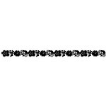 Queen and Company - Self Adhesive Felt Fusion Border - Flower 2 - Black