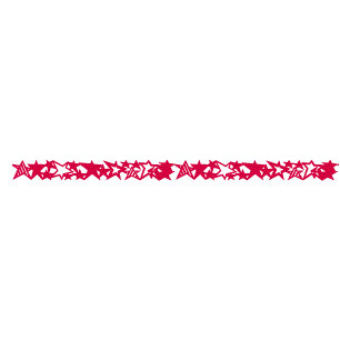 Queen and Company - Self Adhesive Felt Fusion Border - Stars - Red