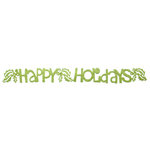 Queen and Company - Self Adhesive Felt Fusion Border - Happy Holidays - Moss
