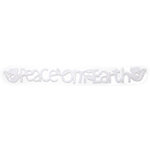 Queen and Company - Self Adhesive Felt Fusion Border - Peace on Earth - White