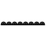 Queen and Company - Self Adhesive Felt Fusion Border - Lace - Black