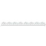 Queen and Company - Self Adhesive Felt Fusion Border - Lace - White