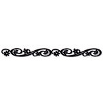 Queen and Company - Self Adhesive Felt Fusion Border - Floral Scroll - Black
