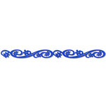 Queen and Company - Self Adhesive Felt Fusion Border - Floral Scroll - Blue