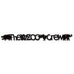 Queen and Company - Self Adhesive Felt Fusion Border - Zoo Crew - Black