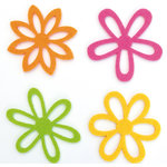 Queen and Company - Flower Frenzy - Large Felt Flowers - Primary