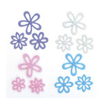 Queen and Company - Flower Frenzy - Small Felt Flowers - Pastel