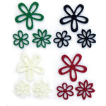 Queen and Company - Flower Frenzy - Small Felt Flowers - Neutral Small