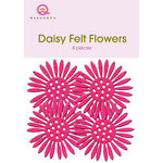 Queen and Company - Felt Flowers - Daisies - Hot Pink, CLEARANCE