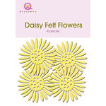 Queen and Company - Felt Flowers - Daisies - Yellow, CLEARANCE