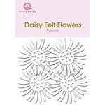Queen and Company - Felt Flowers - Daisies - White, CLEARANCE