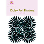 Queen and Company - Felt Flowers - Daisies - Black, CLEARANCE