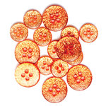 Queen and Company - Candy Shoppe Collection - Gumdrops Buttons - Orange Crush