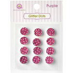 Queen and Company - Bling - Self Adhesive Rhinestones - Glitter Dots - Pink