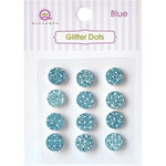 Queen and Company - Bling - Self Adhesive  Rhinestones - Glitter Dots - Blue