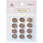 Queen and Company - Bling - Self Adhesive Rhinestones - Glitter Dots - Yellow