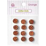 Queen and Company - Bling - Self Adhesive Rhinestones - Glitter Dots - Orange