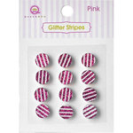 Queen and Company - Bling - Self Adhesive Rhinestones - Glitter Stripes - Pink