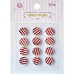 Queen and Company - Bling - Self Adhesive Rhinestones - Glitter Stripes - Red