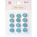 Queen and Company - Bling - Self Adhesive Rhinestones - Glitter Stripes - Blue