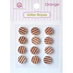 Queen and Company - Bling - Self Adhesive Rhinestones - Glitter Stripes - Orange