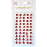 Queen and Company - Bling - Self Adhesive Rhinestones - Iridescent Bubbles - Red