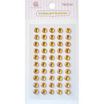 Queen and Company - Bling - Self Adhesive Rhinestones - Iridescent Bubbles - Yellow