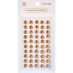 Queen and Company - Bling - Self Adhesive Rhinestones - Iridescent Bubbles - Orange