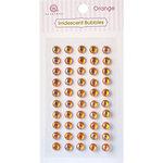 Queen and Company - Bling - Self Adhesive Rhinestones - Iridescent Bubbles - Orange