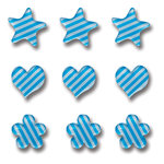 Queen and Company - Candy Shoppe Collection - Ice Accents - Stripe - Blueberry Bliss