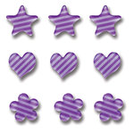 Queen and Company - Candy Shoppe Collection - Ice Accents - Stripe - Grape Ape