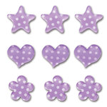 Queen and Company - Candy Shoppe Collection - Ice Accents - Polka - Grape Ape