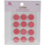 Queen and Company - Bling - Self Adhesive Petite Lollies - Red