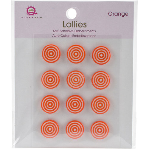Queen and Company - Bling - Self Adhesive Petite Lollies - Orange