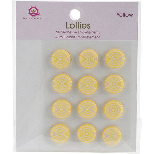 Queen and Company - Bling - Self Adhesive Petite Lollies - Yellow