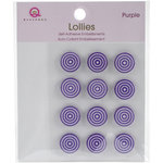 Queen and Company - Bling - Self Adhesive Petite Lollies - Purple