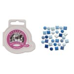 Queen and Company - Mini Square and Round Brads - 44 pieces - Be Blue, CLEARANCE