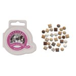 Queen and Company - Mini Square and Round Brads - 44 pieces - Basic Brown